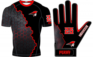 Custom Compression Shirt and Glove Package